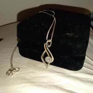 Jewelry - Sterling silver with 10k gold necklace